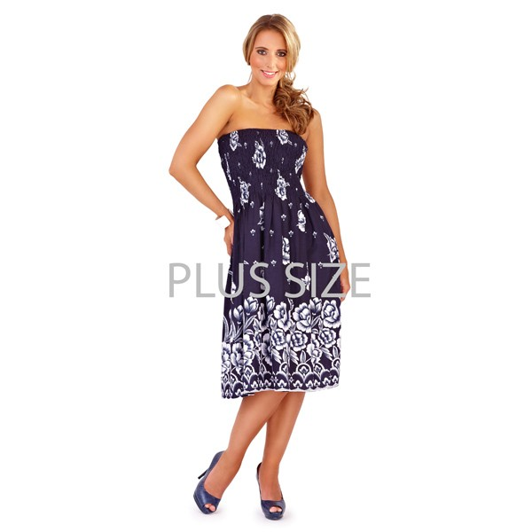 Shop various styles including plus size casual dresses, plus size cocktail dresses, work dresses and more. For a dressier occasion, browse the selection of plus size formal dresses to find a form fitting gown or modest fit-and-flare dress that come in classic black, white and even metallic styling.