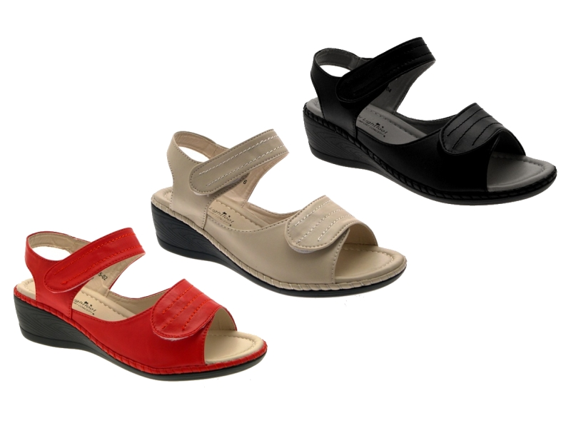 Unique Womens Wedge Heel Velcro Strap Comfortable Padded Summer Shoes Sandals | EBay