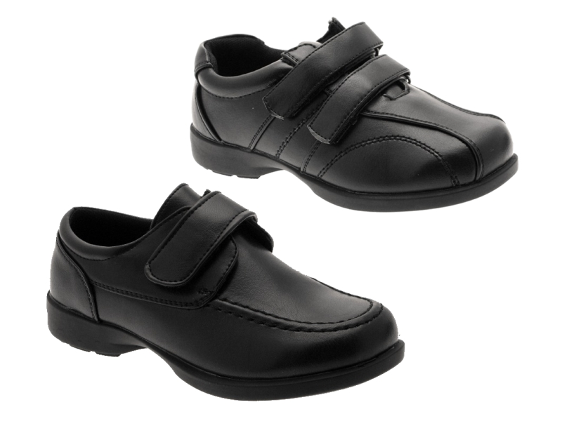 boys black leather school shoes size 5