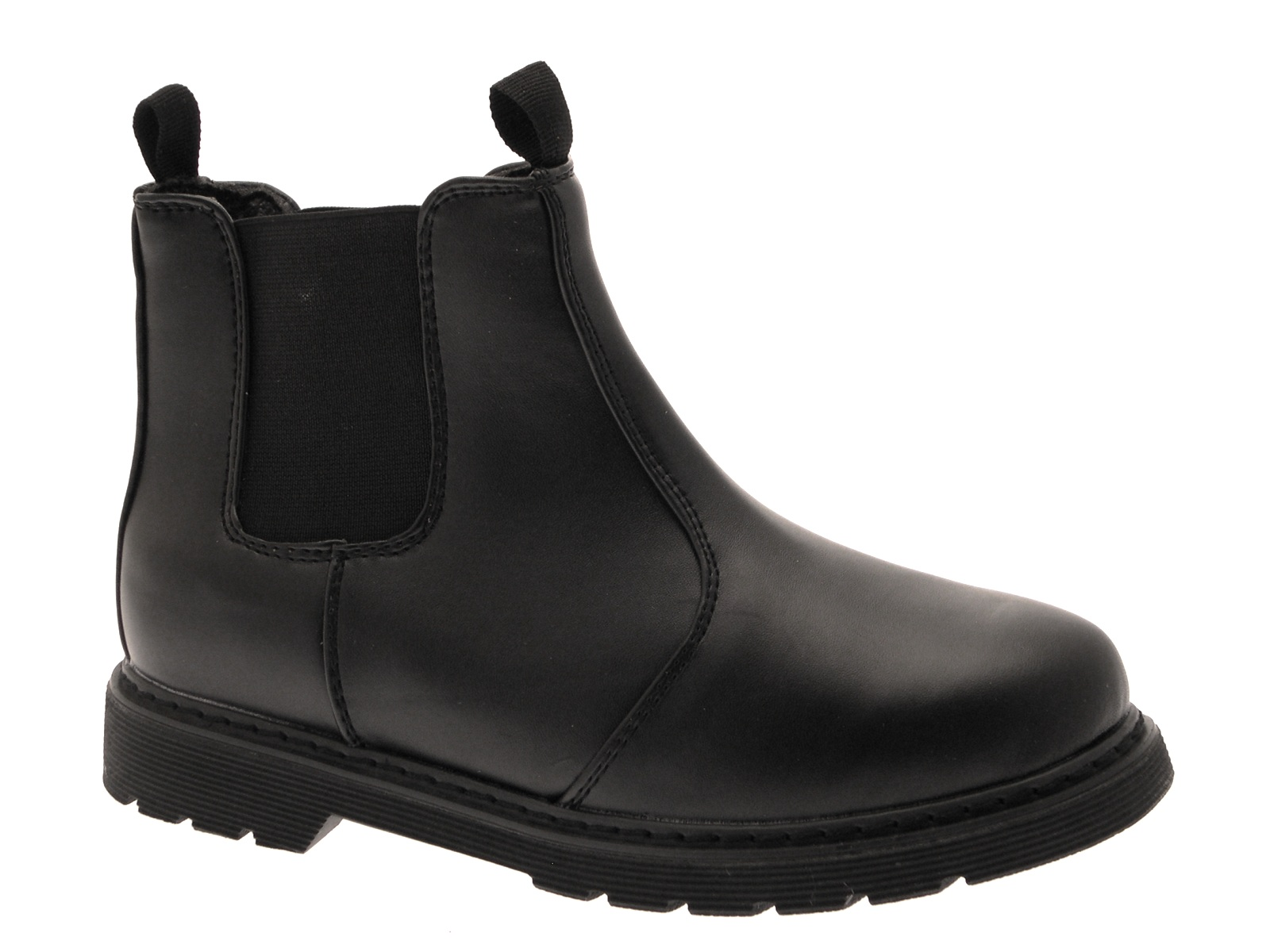 new high great look high quality Boys Black Leather School Shoes Size 5