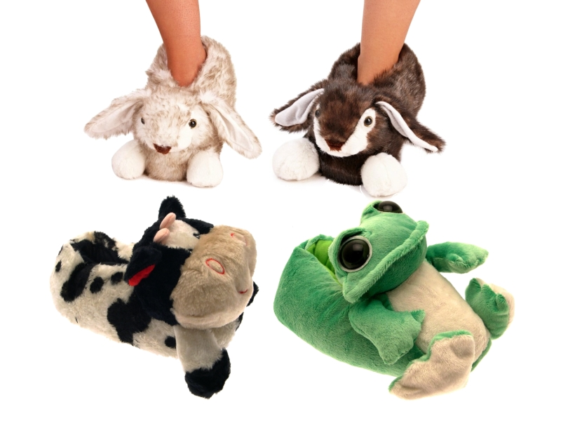 rabbit slippers for adults uk