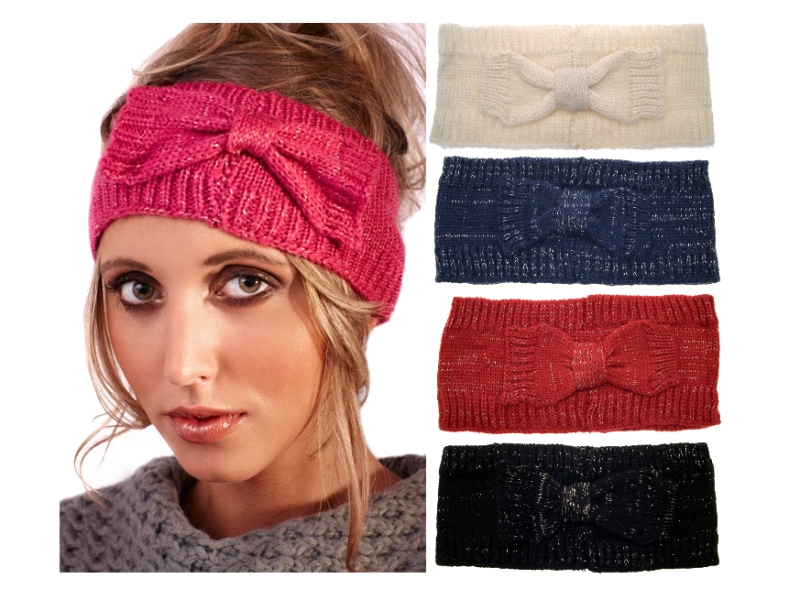 womens girls ladies wool knitted winter ski headband warmer hair band