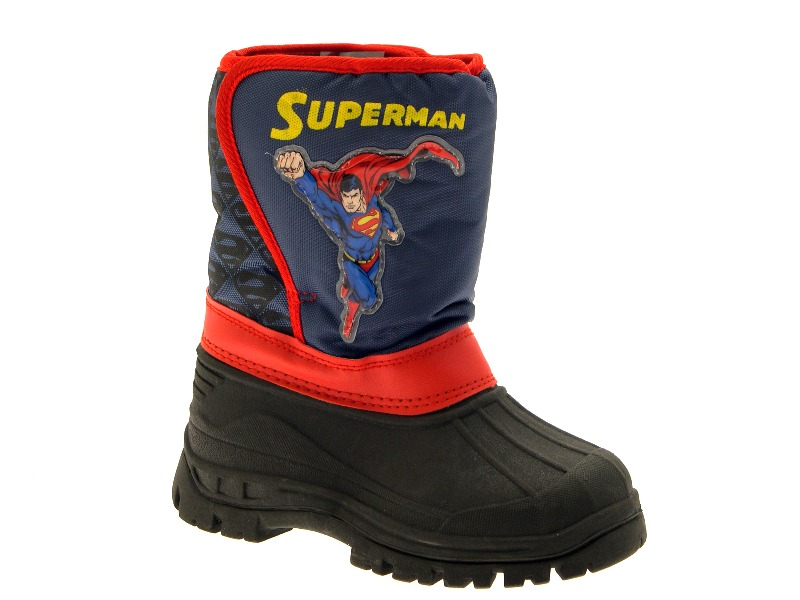 KIDS BOYS SUPERMAN SPIDERMAN WINTER SKI MUCKER WELLINGTON SNOW BOOTS SIZE UK 7-1