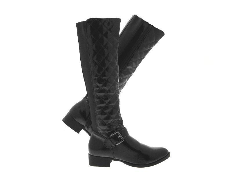 womens quilted stretch wide calf boots knee high