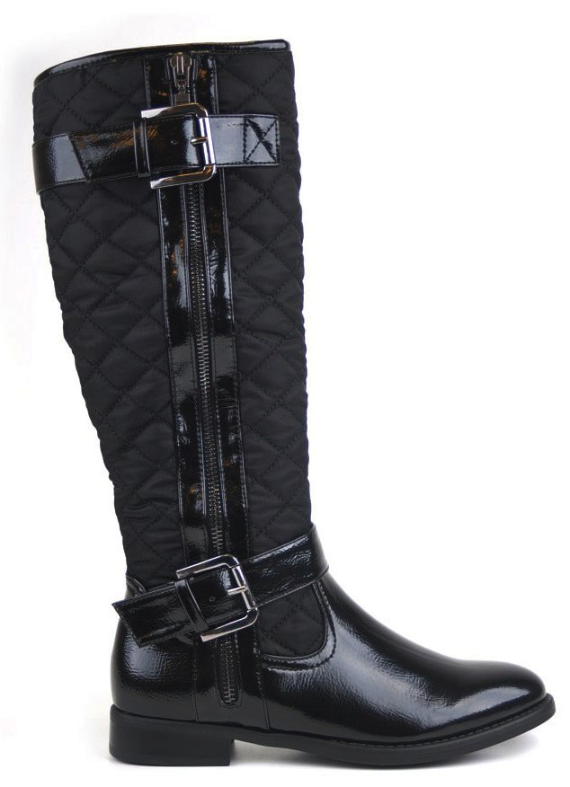 boots calfskin chanel riding quilt quilted black