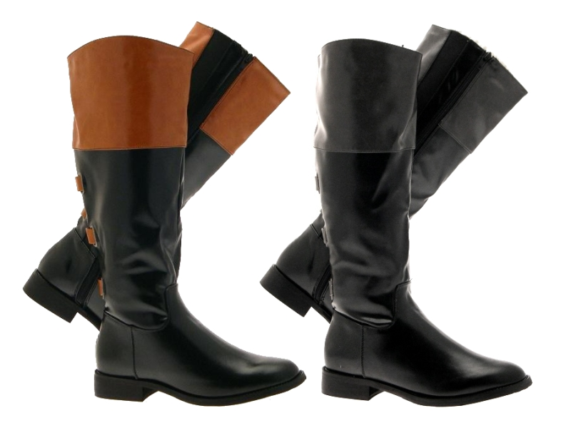Beautiful RAMPAGE Womens Britney 2 Tone Riding Boots Wide  Bob39s Stores