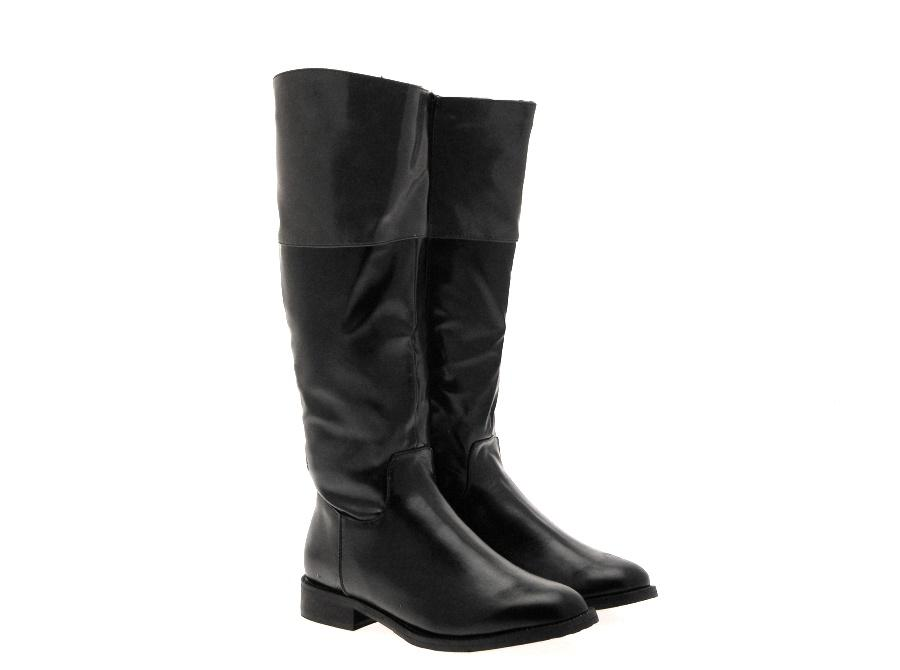 Excellent A2 Womens High Ride Two Tone Riding Boots  BLACK