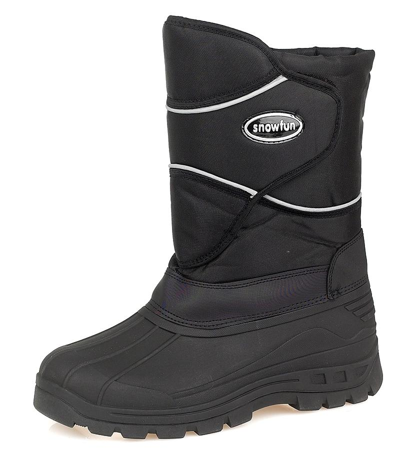 Gallery For gt Mens Black Snow Boots