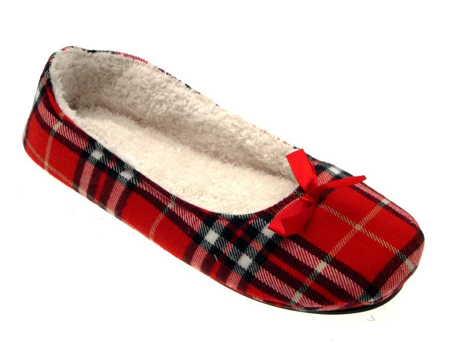 Womens Slippers Mules Winter Slip On Ladies Tartan Leopard