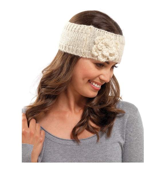 Knitting Pattern Ski Headband : WOMENS GIRLS LADIES WOOL KNITTED HEADBAND WINTER SKI HAIR ...