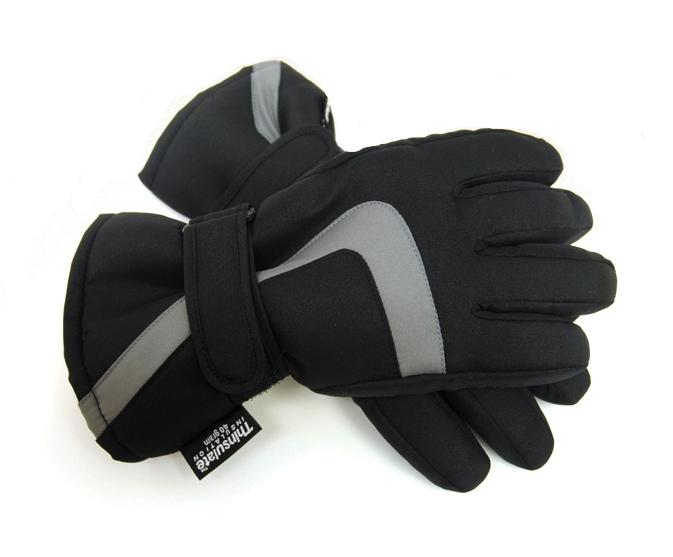 KIDS BOYS THINSULATE THERMAL PADDED LINED SKI GLOVES SNOW PALM GRIP WINTER WARM