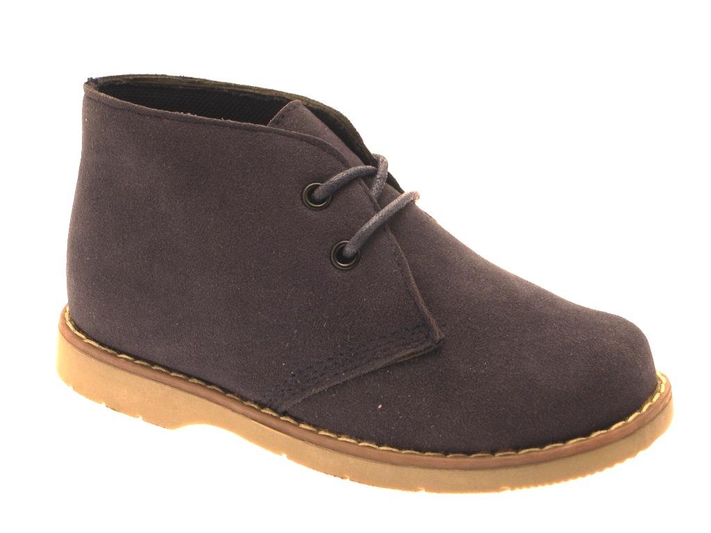 new boys black desert ankle boots zip laces faux