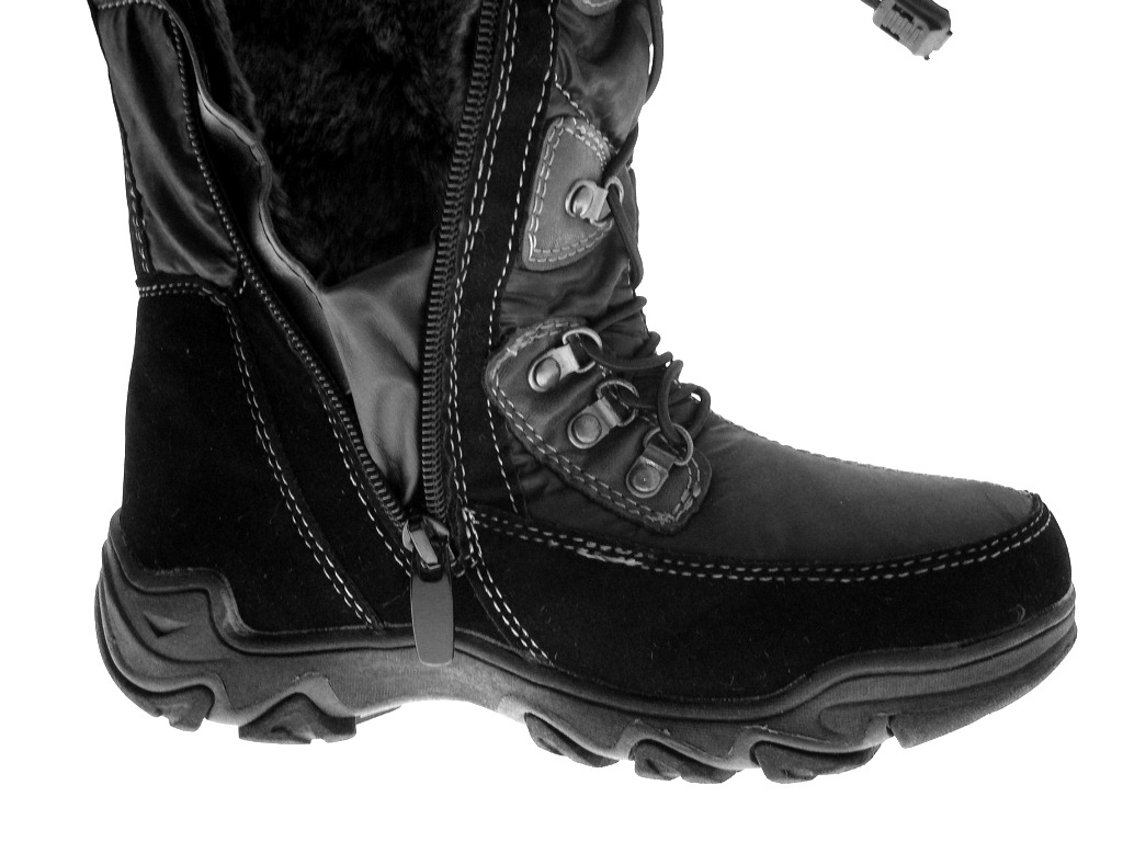 WOMENS LADIES GIRLS SNOW BOOTS WATERPROOF ZIP FUR LINED MUCKER ...