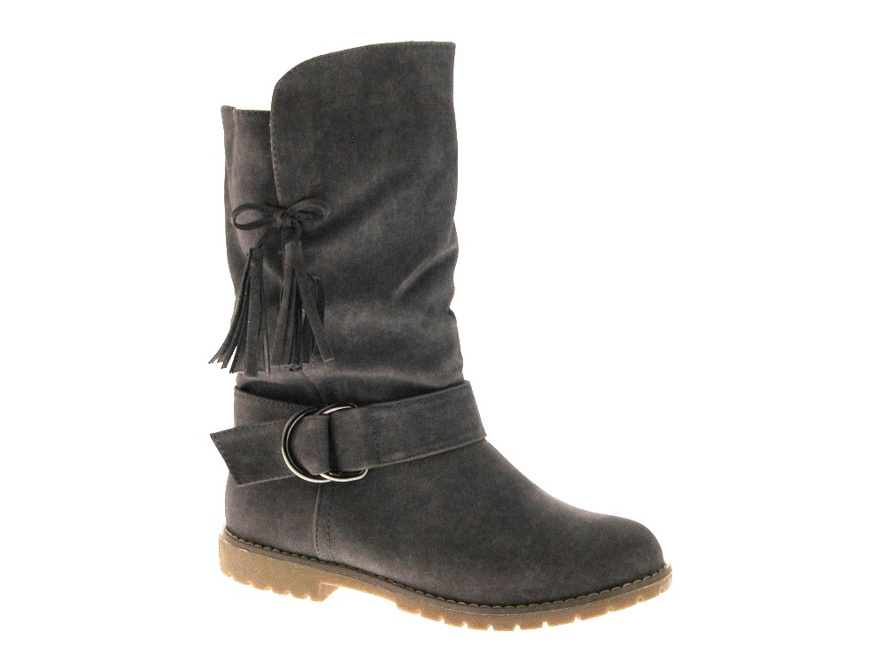 womens slouch cuff flat boots midcalf faux suede