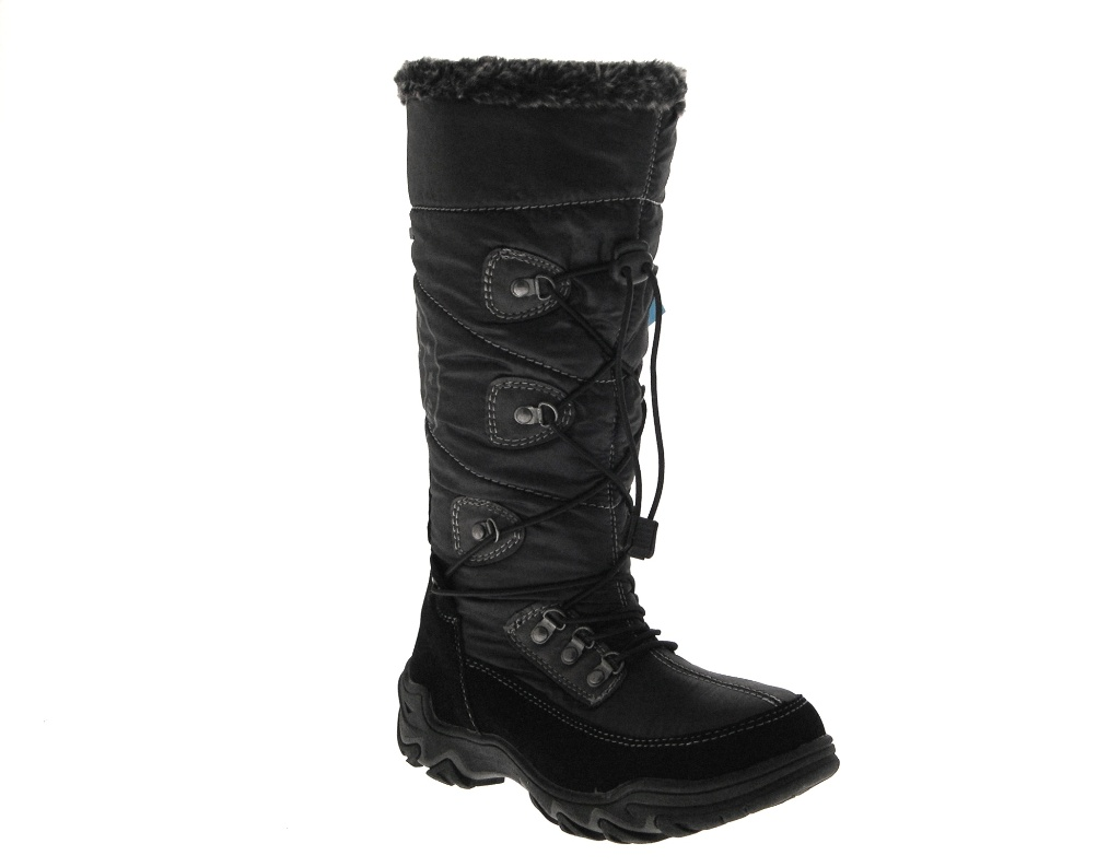 Womens Ladies Girls Snow Boots Waterproof Zip Fur Lined