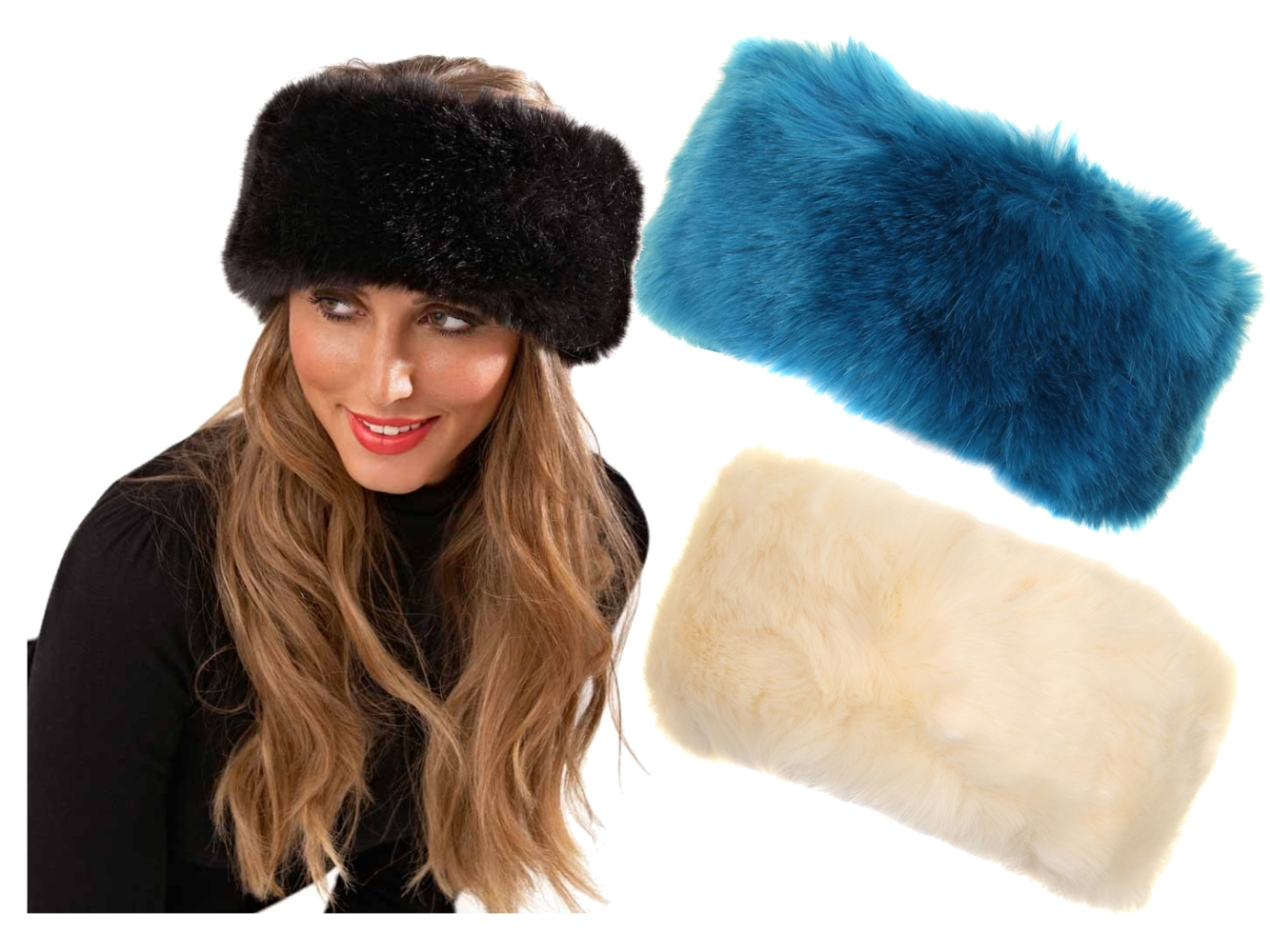 Fur Headbands. The must have for skiing or those cold winter days - not as  big as a 5826be84fb4
