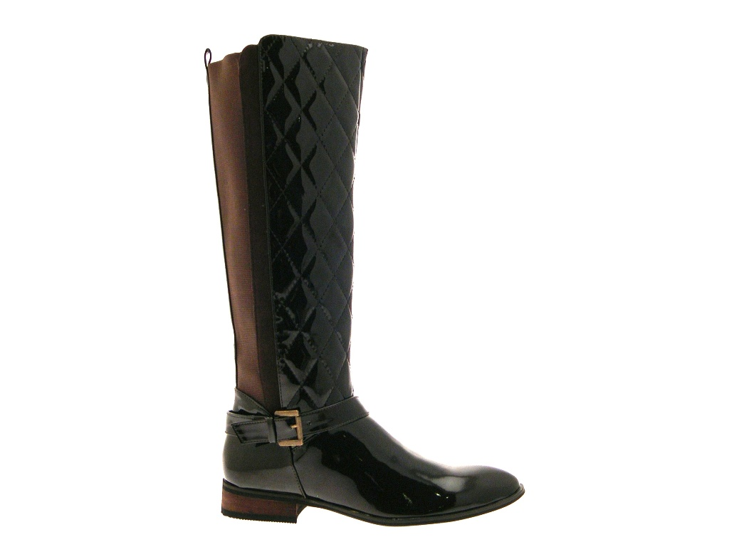 WOMENS TALL QUILTED WIDE CALF STRETCH RIDING BOOTS KNEE ...
