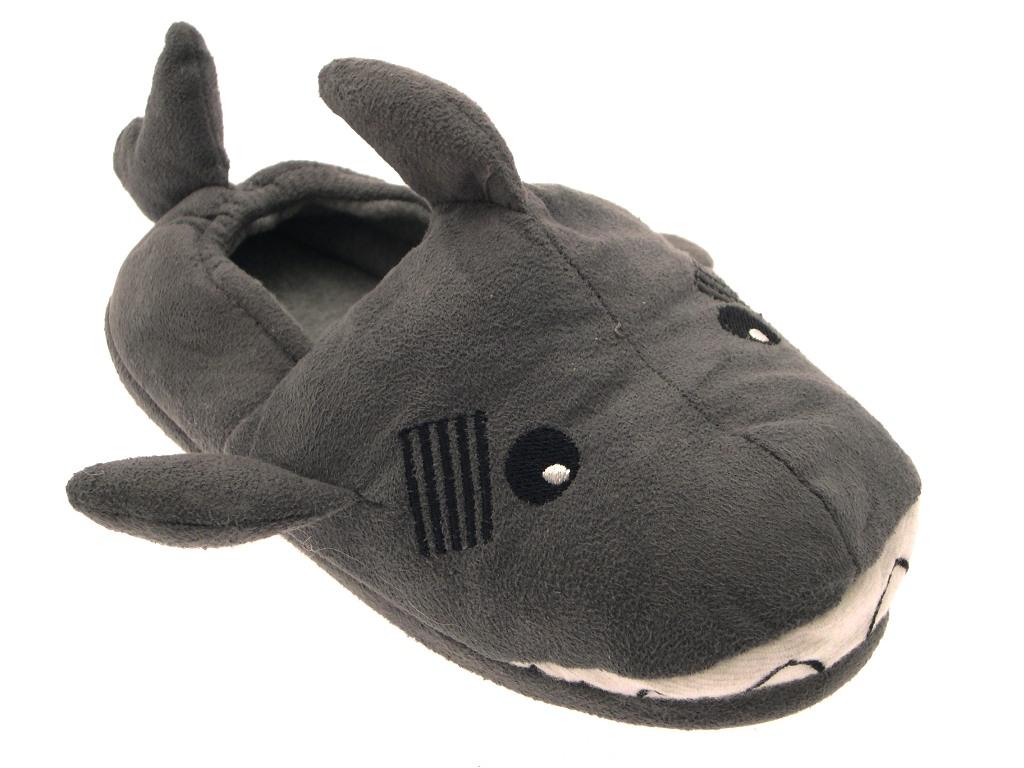 Chicos Chicas Niños Novedad Navidad Zapatillas Botas Felpa Polar Shark Monkey Talle 9 - 3