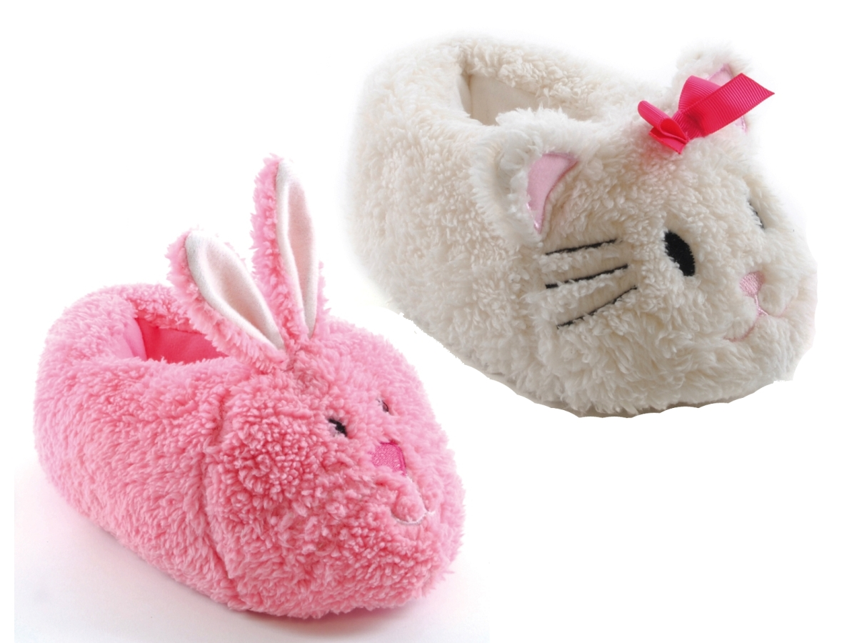 612c344d19d Girls Plush 3D Animal Slippers Boots Character Winter Booties Xmas Gift Size