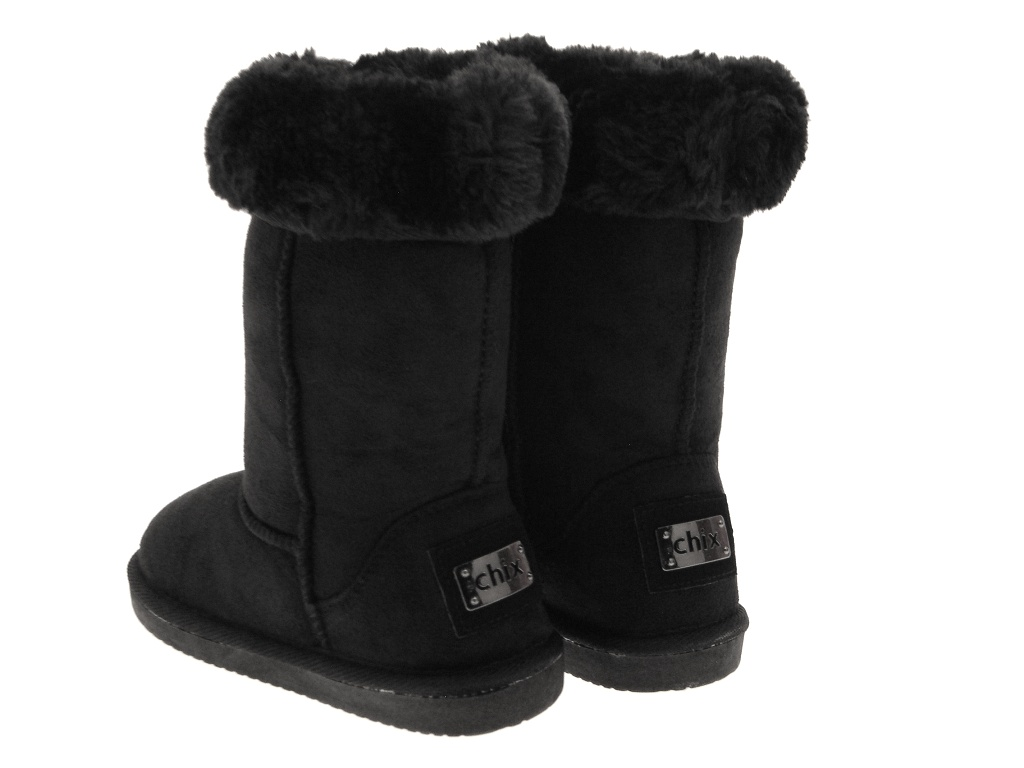 LUXURY GIRLS KIDS THICK FUR LINED MID CALF FAUX SHEEPSKIN SNOW ...