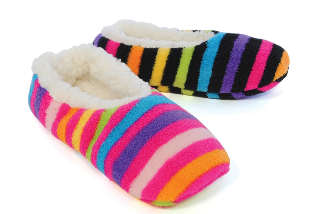 Womens Sherpa Fur Lined Slipper Socks Girls Kids Ladies