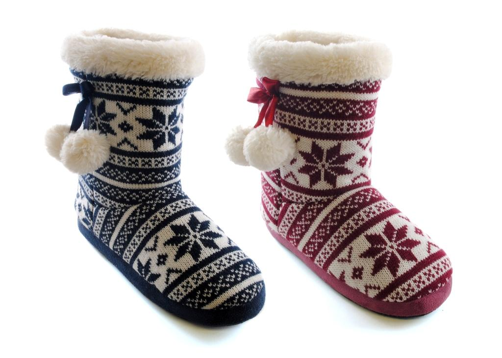 womens slipper boots booties slippers knitted or fleece