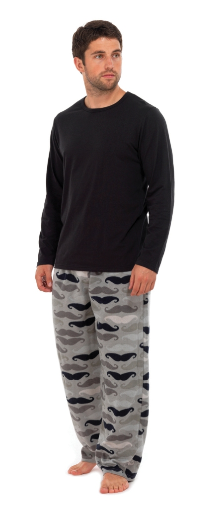 Pajama shorts give men the softness of great men's pajamas that won't get bunched up around their legs. Pajama shirt and pant sets are a great way to find breathable pajama pants and shirts. Sometimes including a robe, these sets are great for lazy mornings and comfortable nights.
