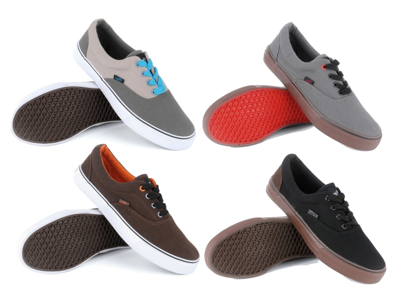 MENS LACE UP PLIMSOLES PLIMSOLLS PUMPS TRAINERS DECK SHOES CANVAS SIZE UK 3 - 11