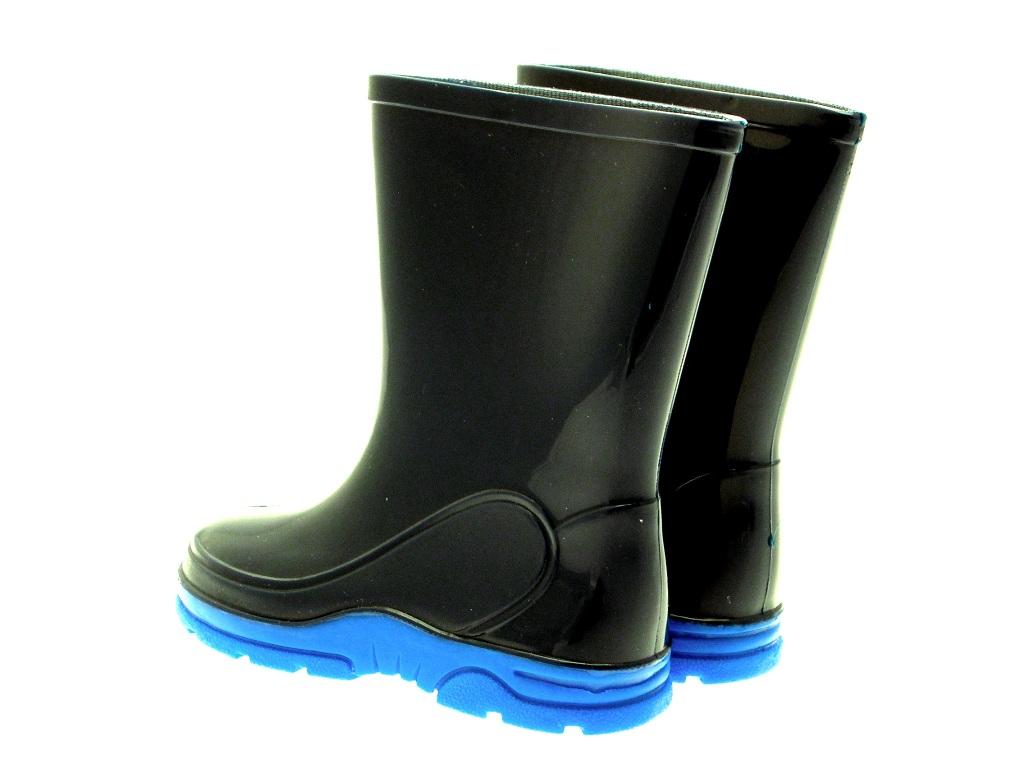 Para Niños Niños Chicos Invierno Nieve Botas Wellington Wellies Wellys Azul Marino Talla 6 - 12
