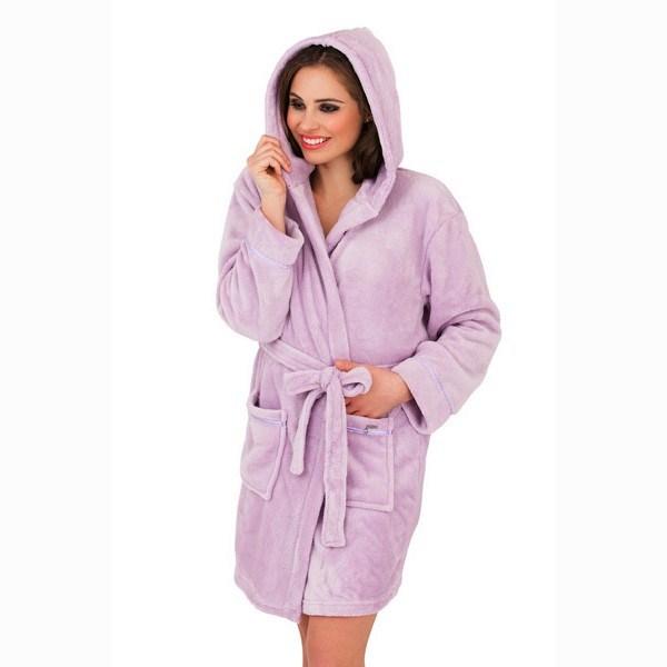 femme capuche court peignoir robe de chambre peignoir avec ceinture femmes. Black Bedroom Furniture Sets. Home Design Ideas