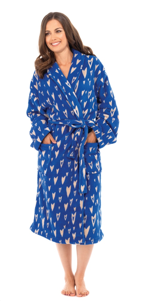 Women's Duster Robes. invalid category id. Women's Duster Robes. George. See Details. Product - Sleep Chic Womens Plush White Snowflake Print Bath Robe Plush Housecoat. Product Image. Price $ Product Title. Sleep Chic Womens Plush White Snowflake Print Bath Robe Womens Medium Fleece Lounge Pajama Bottoms Camo with Neon Pink.