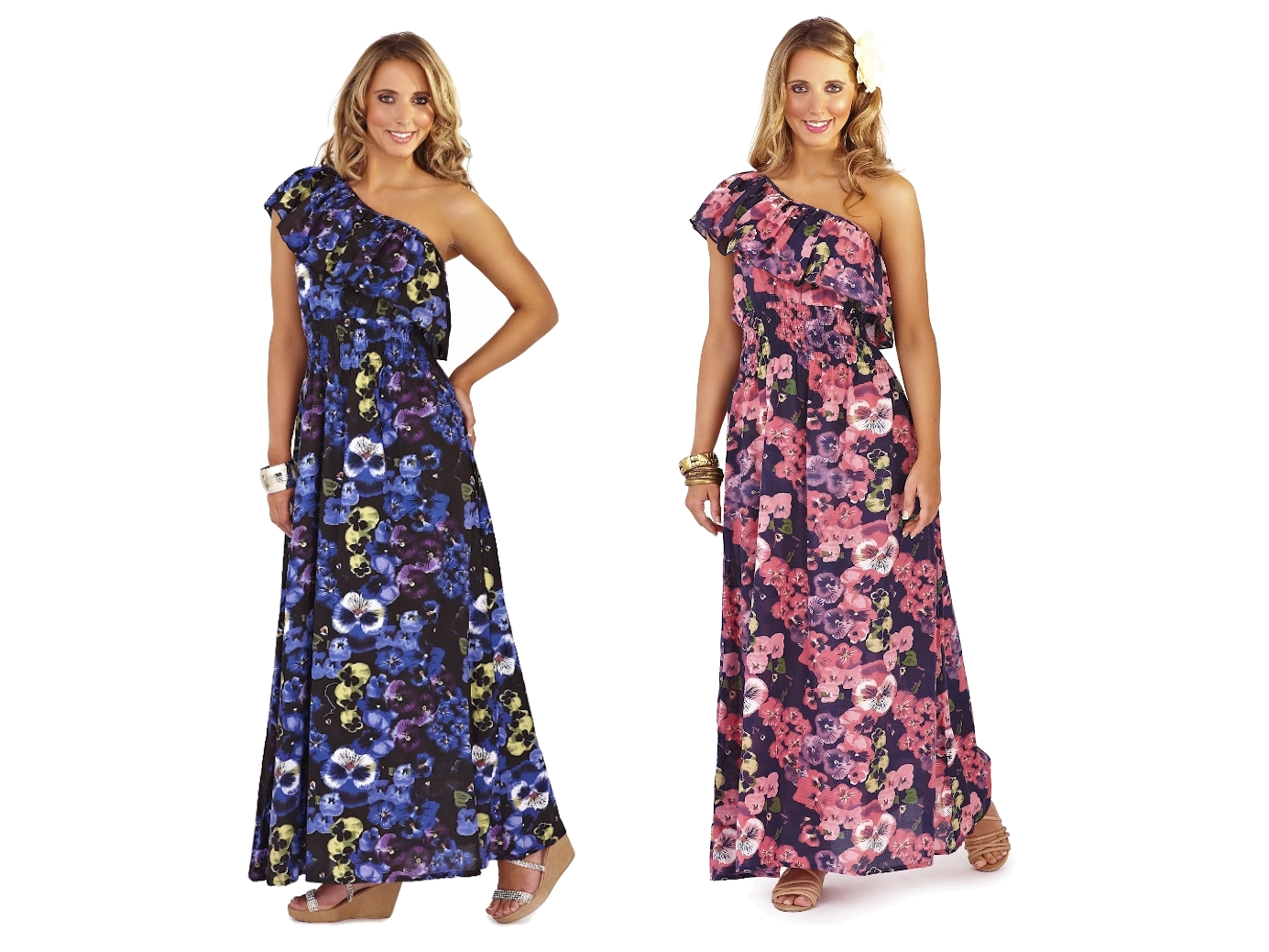 Very flattering dress from Alternative Earth, racerback tank style maxi dress with full skirt. poly cotton rayon blend, drapes well. too big for my dress dummy which fits a size 0/2. marked a size S, should fit a 4 to 6 depending on the fit you like.
