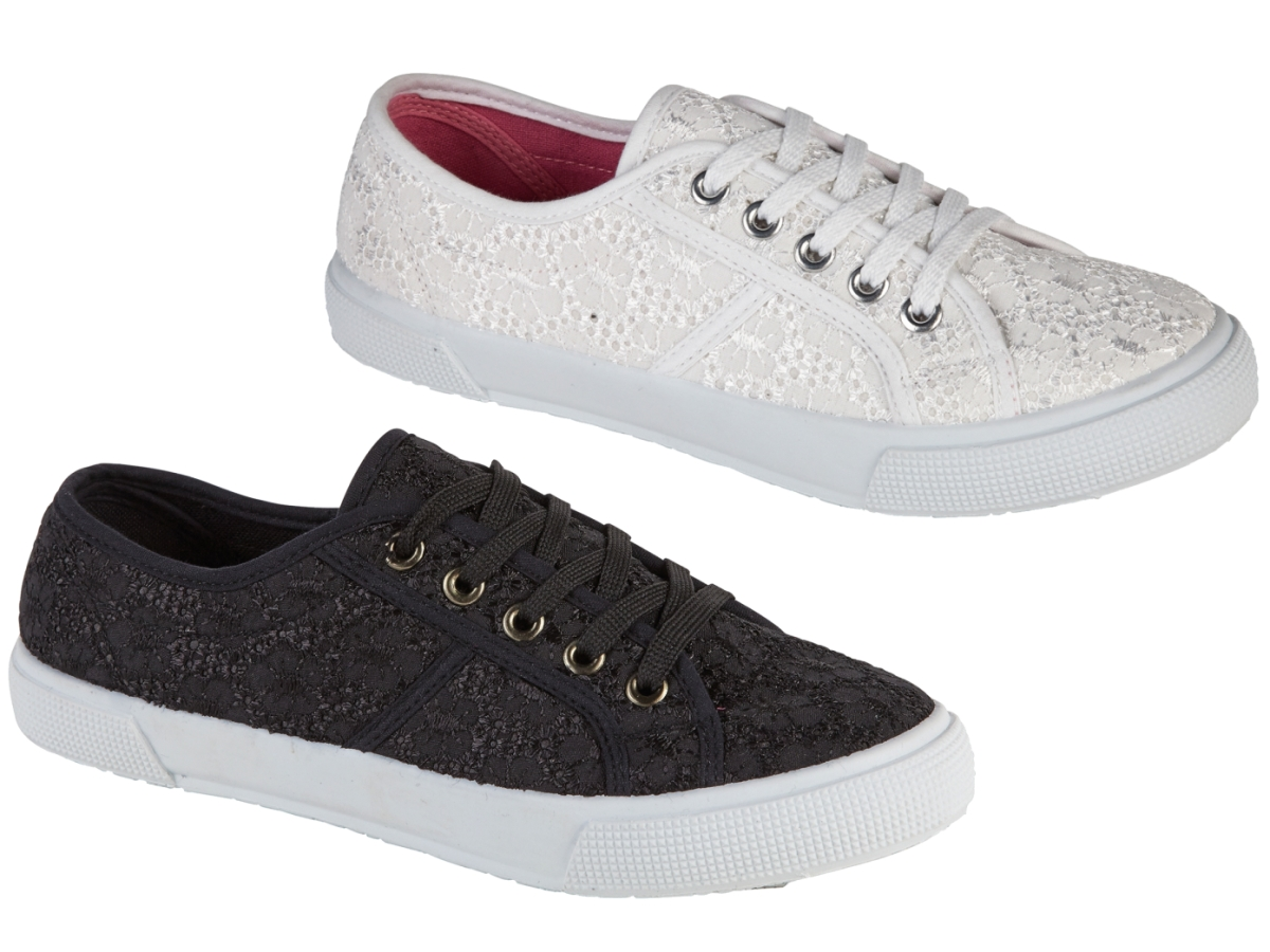 Canvas Shoes For Women. For the summer months, there can be few better treats for your feet than our selection of canvas shoes for women. Our selection includes lace-up plimsolls, pumps and slip-on shoes in a range of colours and sizes. If you're after a nautical look, you might go for our navy-and-white striped canvas pumps, with.