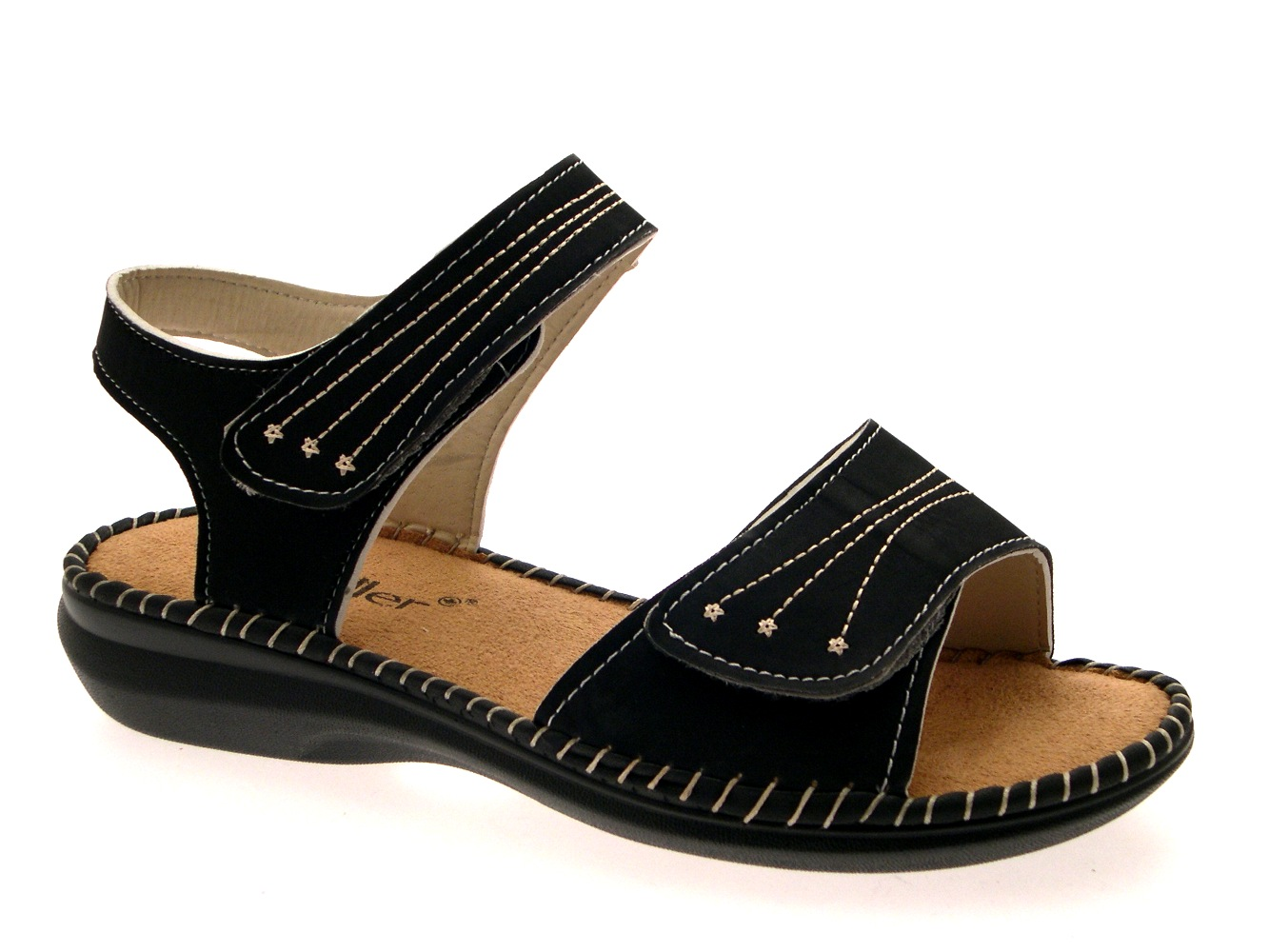 womens low wedge wide comfort cushioned sandals summer