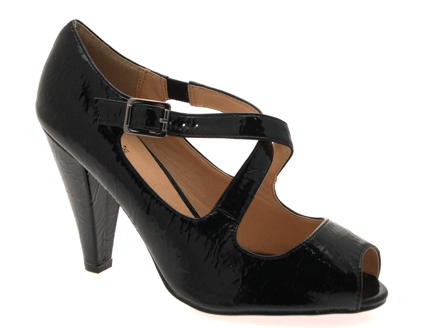 womens faux patent leather high heels work office evening
