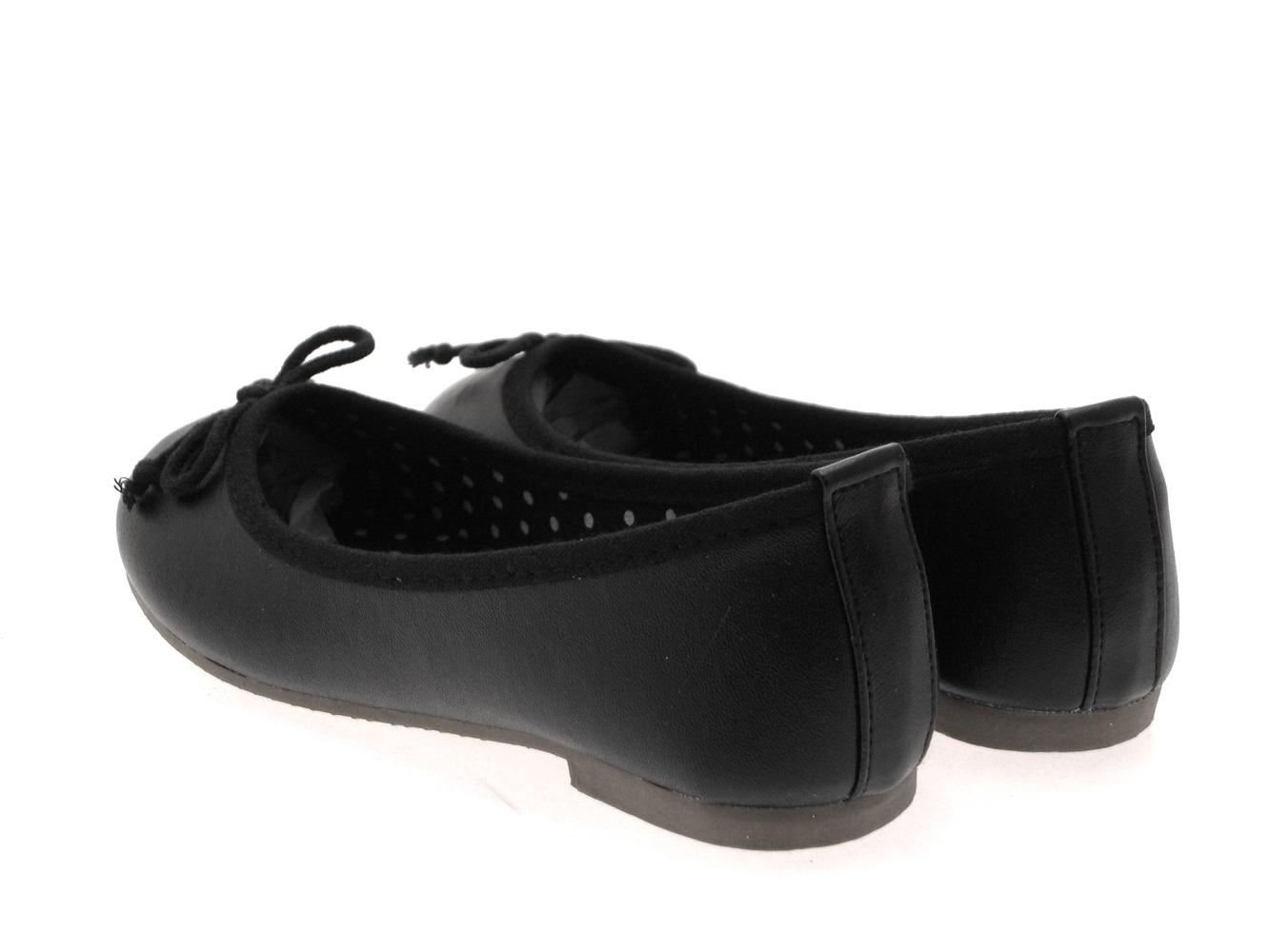 Chicas Imitación Cuero Ballet Bombas Zapatos Planos De Niños 3D arco Bailarinas Talla