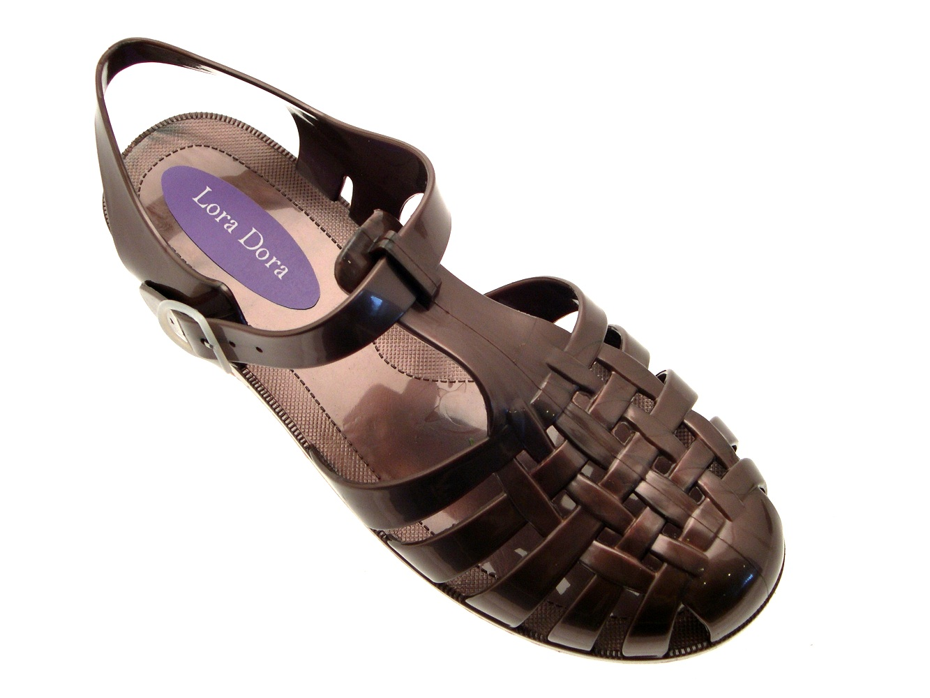 Para Mujer Jelly Cortar Sandalias Damas Plana jaleas Verano Playa Zapatos Talla Uk 3-8