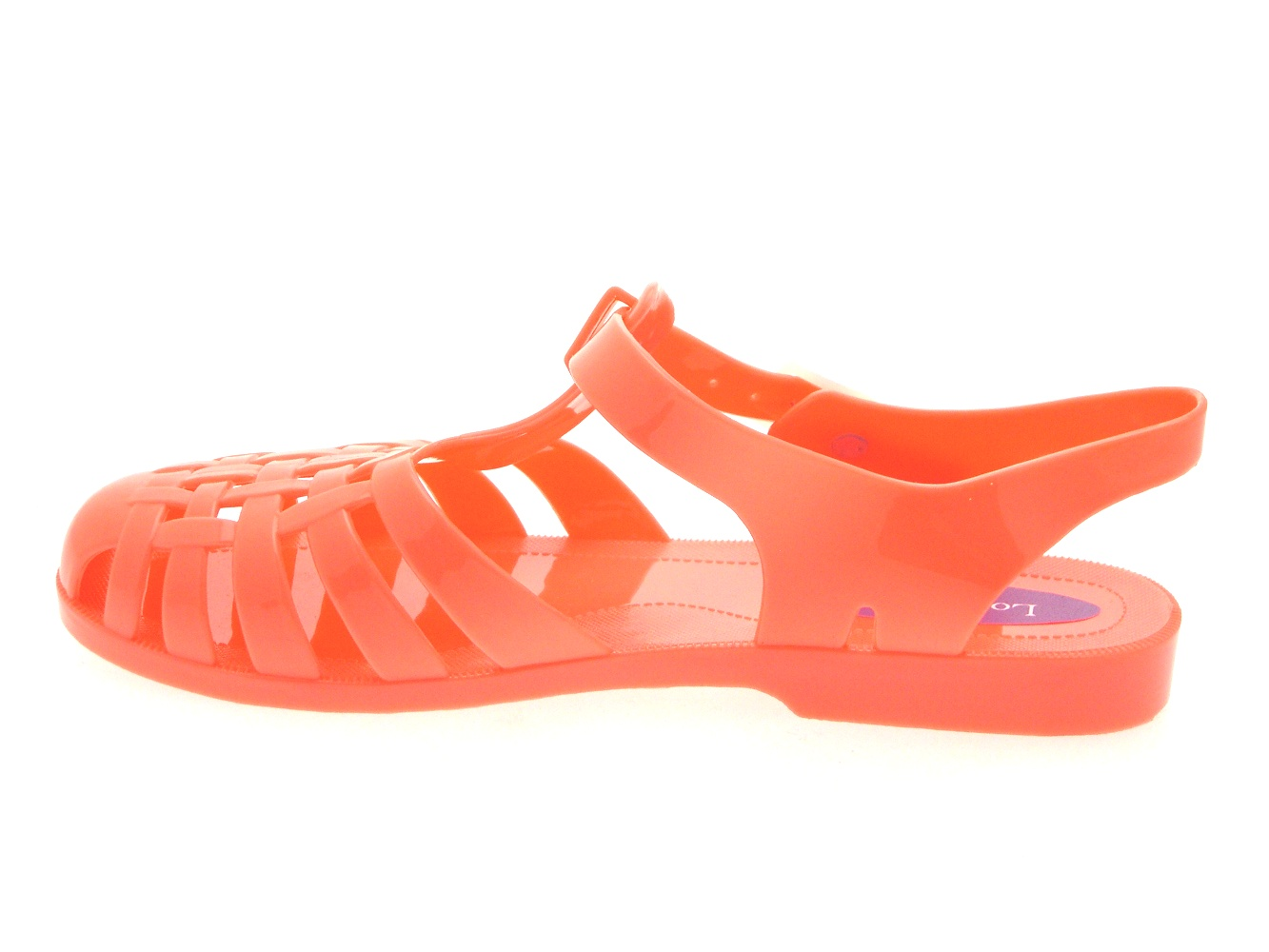 womens jelly cut out sandals flat jellies summer