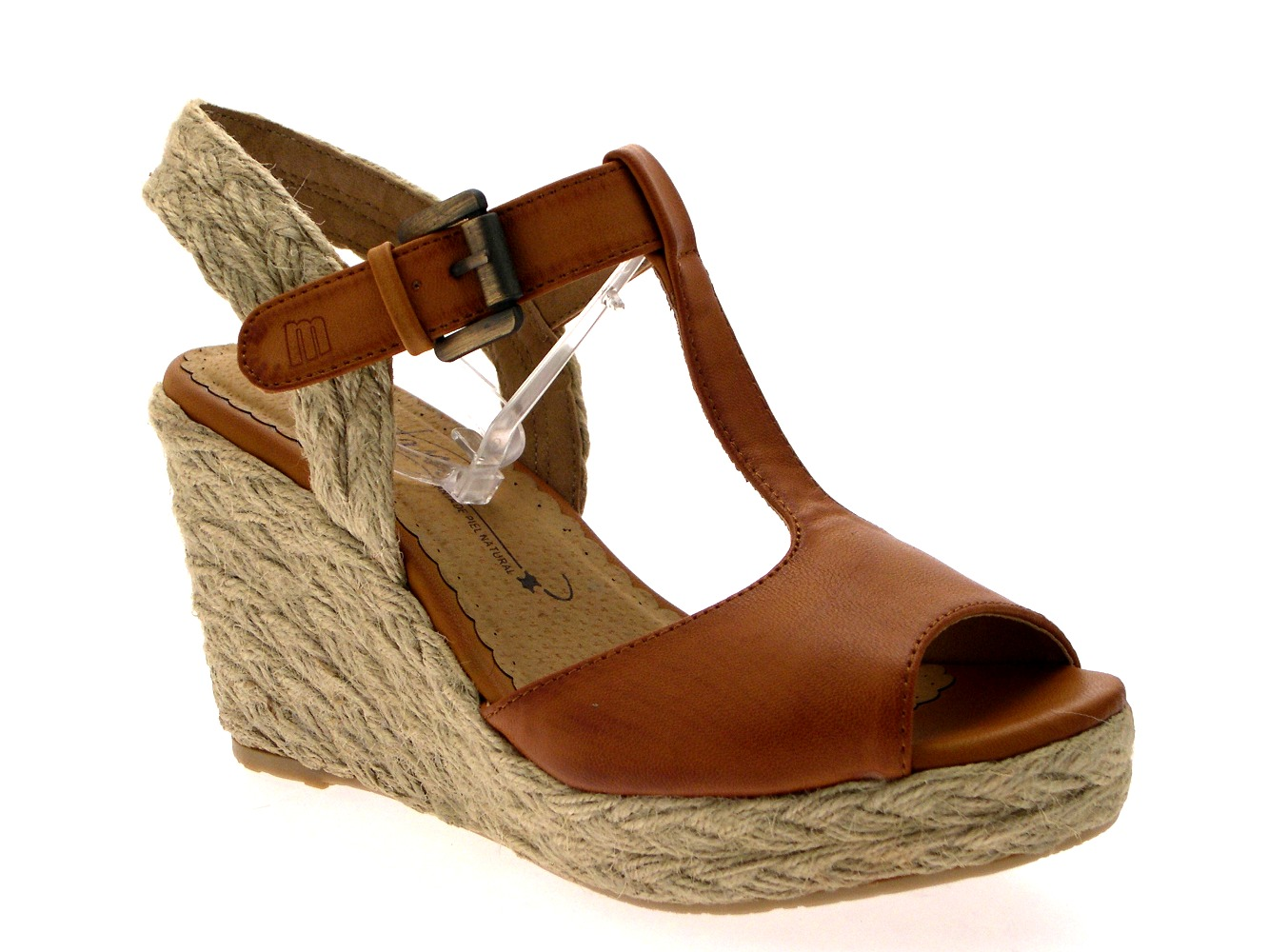 WOMENS HESSIAN ROPE WEDGE PLATFORM TBAR SANDALS SUMMER ...