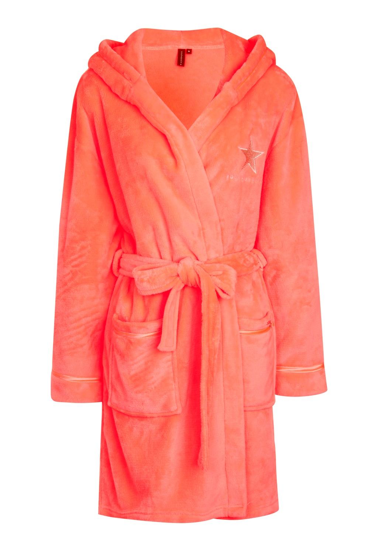 SOUTH BEACH STAR WOMENS HOODED SHORT BATH ROBE DRESSING GOWN LADIES ... 6a7f1d143