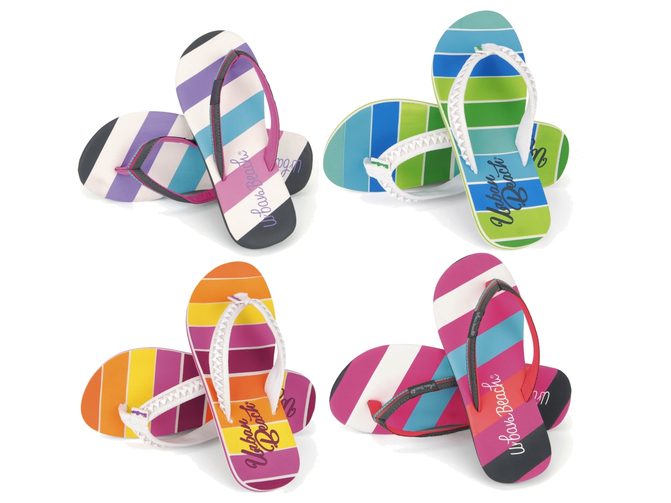 d6ab92fb9b50 GIRLS CHILDRENS KIDS URBAN BEACH TOE POST FLIP FLOPS CUSHIONED SANDALS SIZE  10-2
