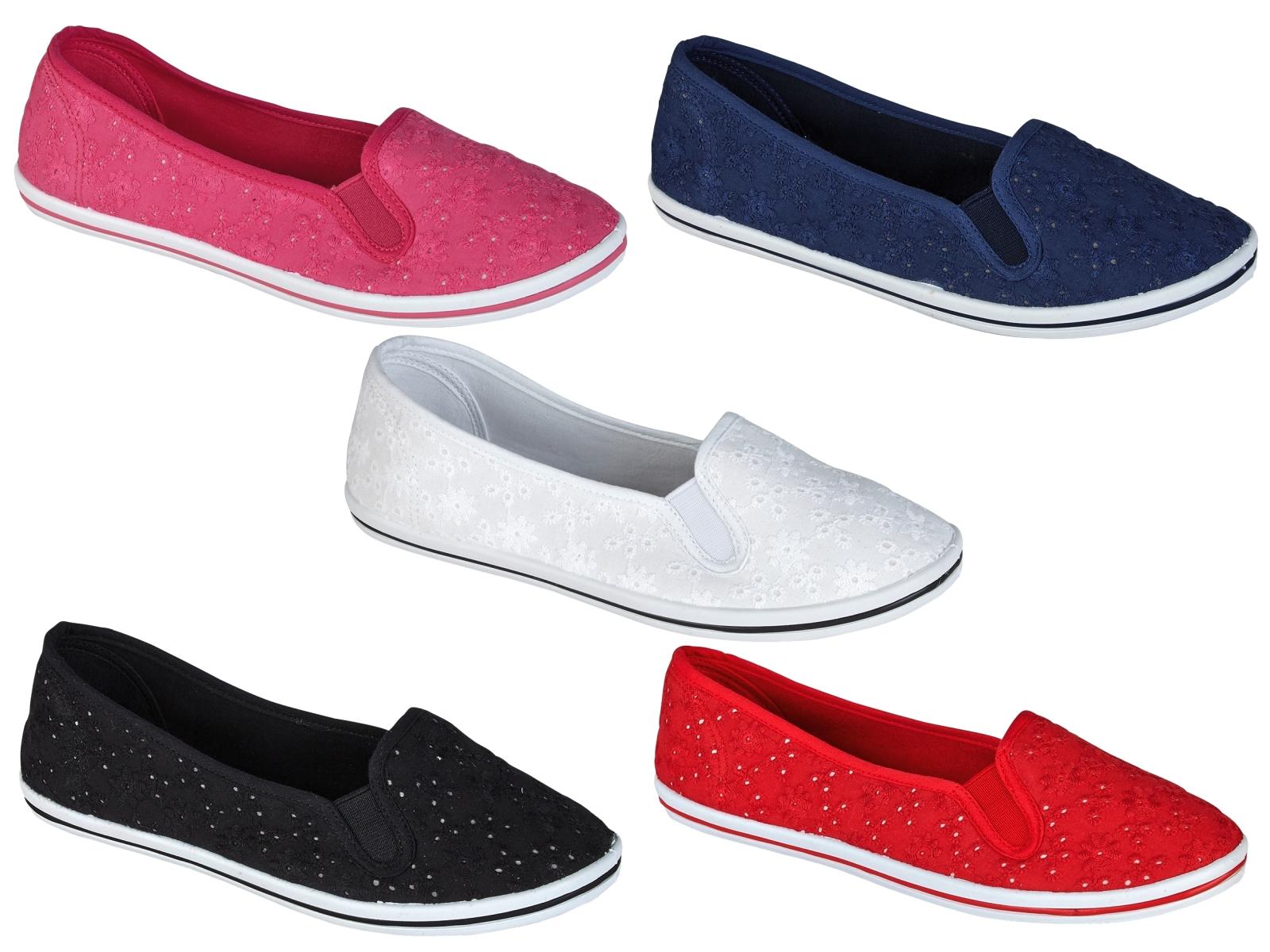 womens plimsoles lace pumps plimsolls shoes slip on canvas