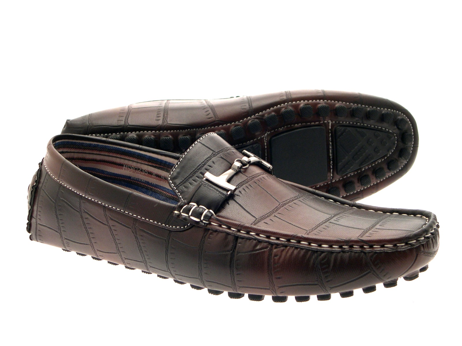 mens moccasin mule loafers shoes faux leather casual shoes size uk 6 11 ebay