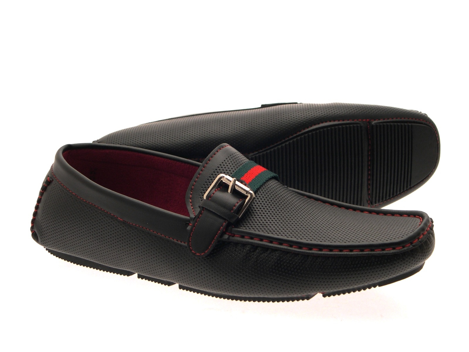 mens moccasin loafers formal mules casual slip on faux