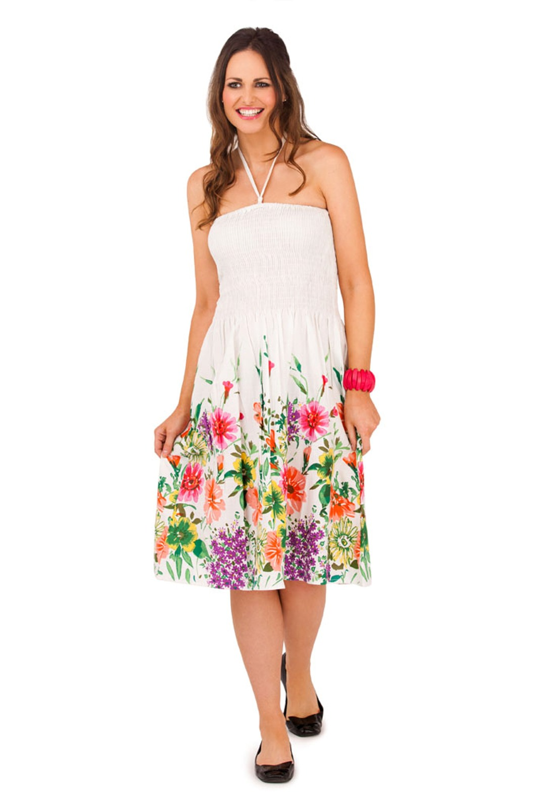 Womens 3 In 1 Halterneck / Strapless Summer Dress ...