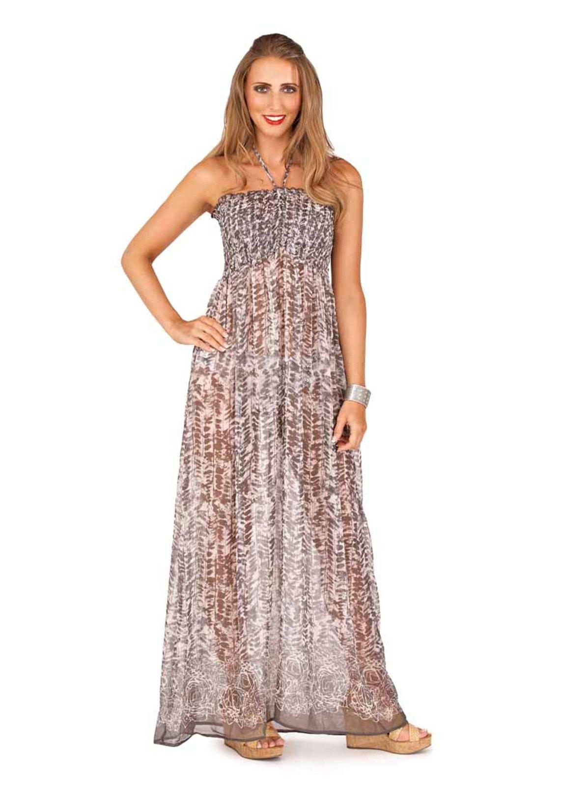 Simple  Formal Chiffon Ruching V Neck Sleeveless Empire Waist Maxi Dress