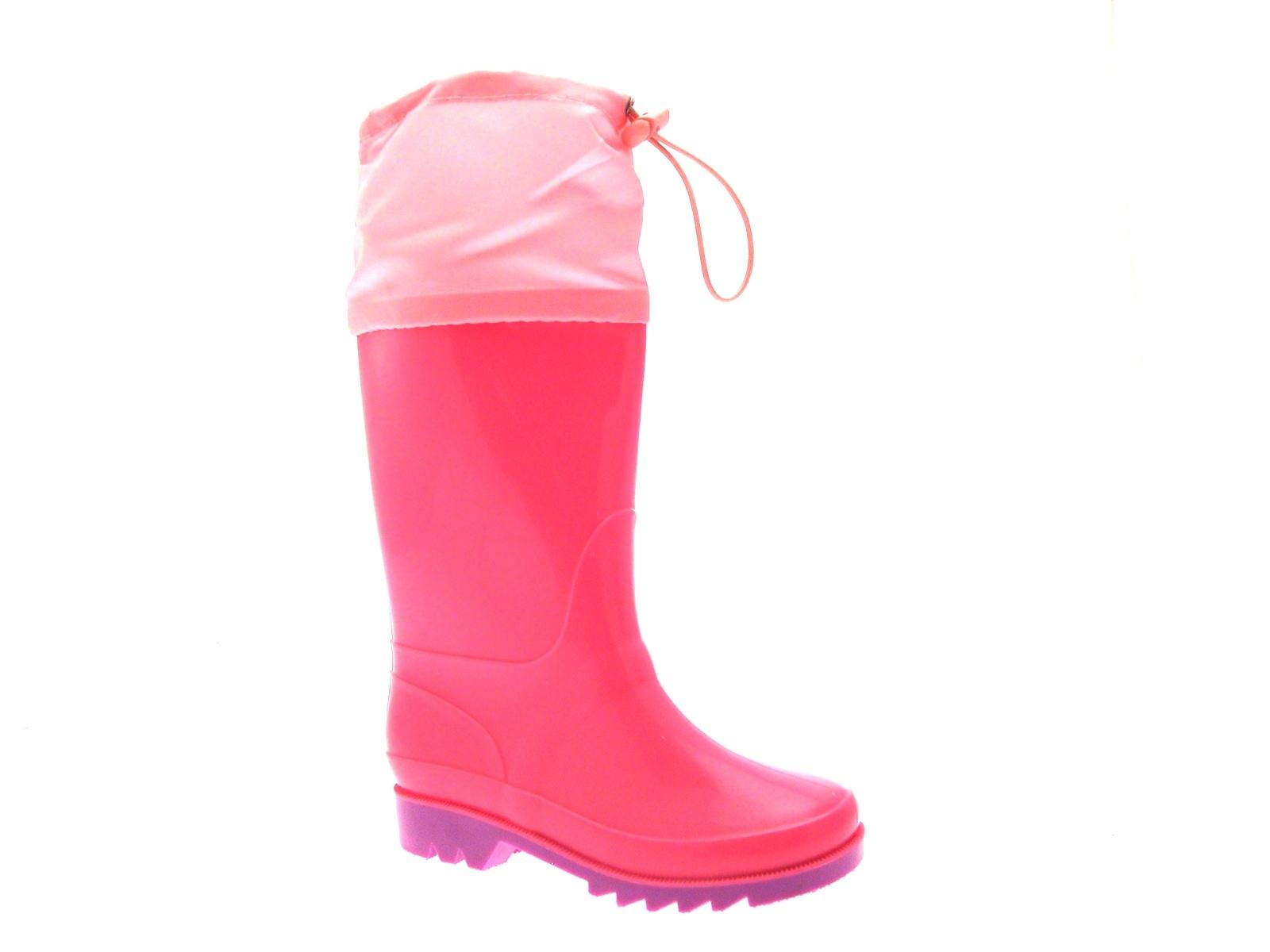 Kids Boys Girls Childrens Tie Top Wellies Wellington Boots Junior Size UK 10-2