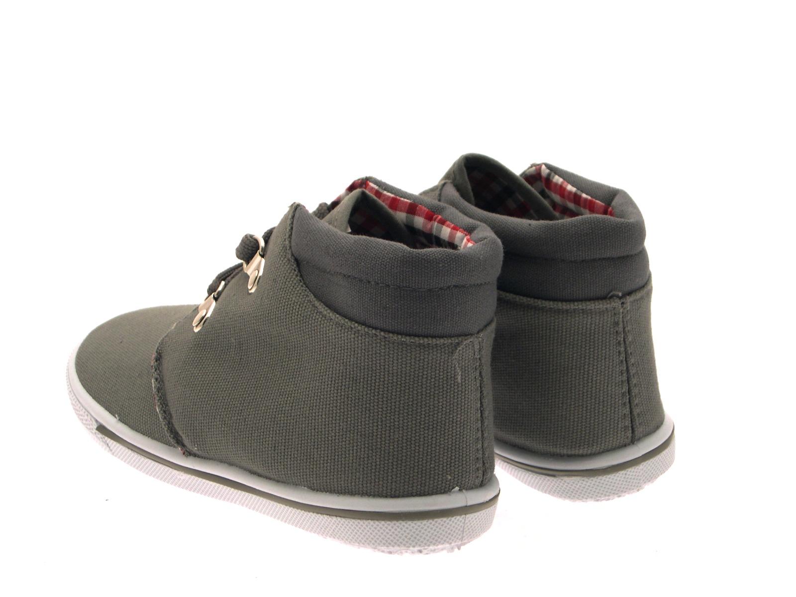Kids Boys Canvas Pumps Hi Top Trainers Lace Boots Plimsoles Shoes Size UK 4-12 | EBay