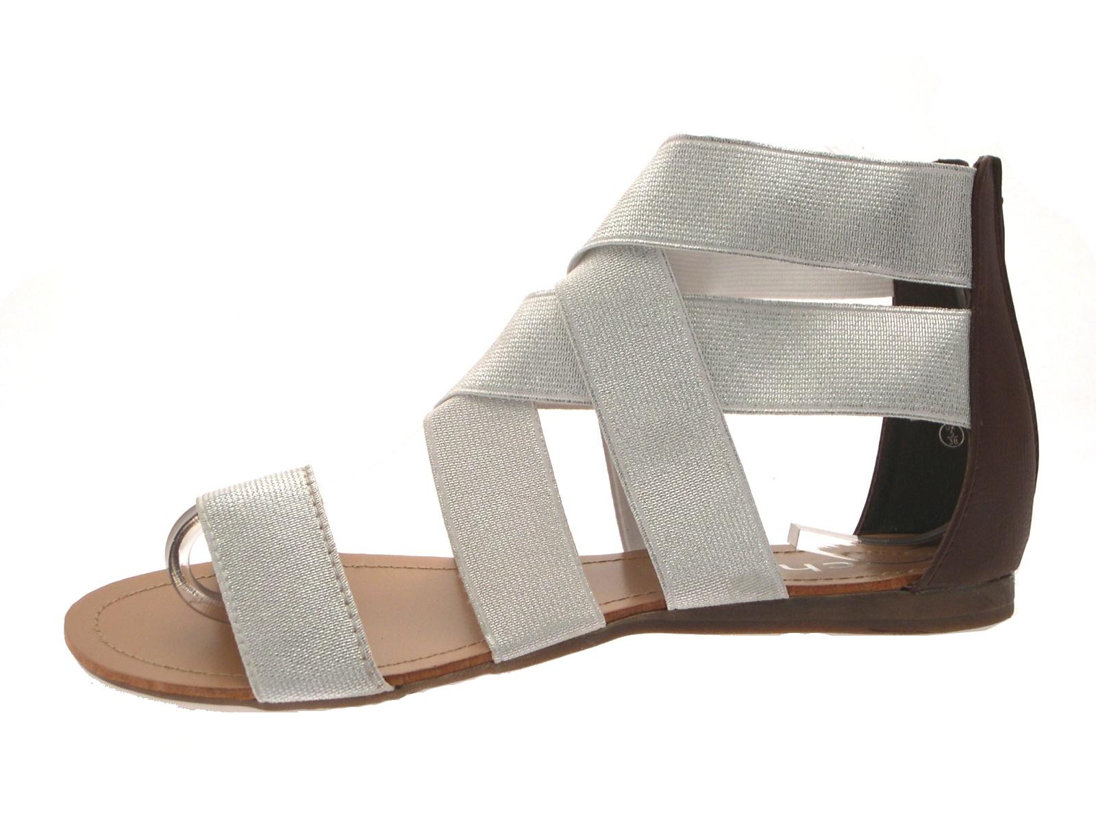 Womens Flat Elastic Strap Shoes Uk