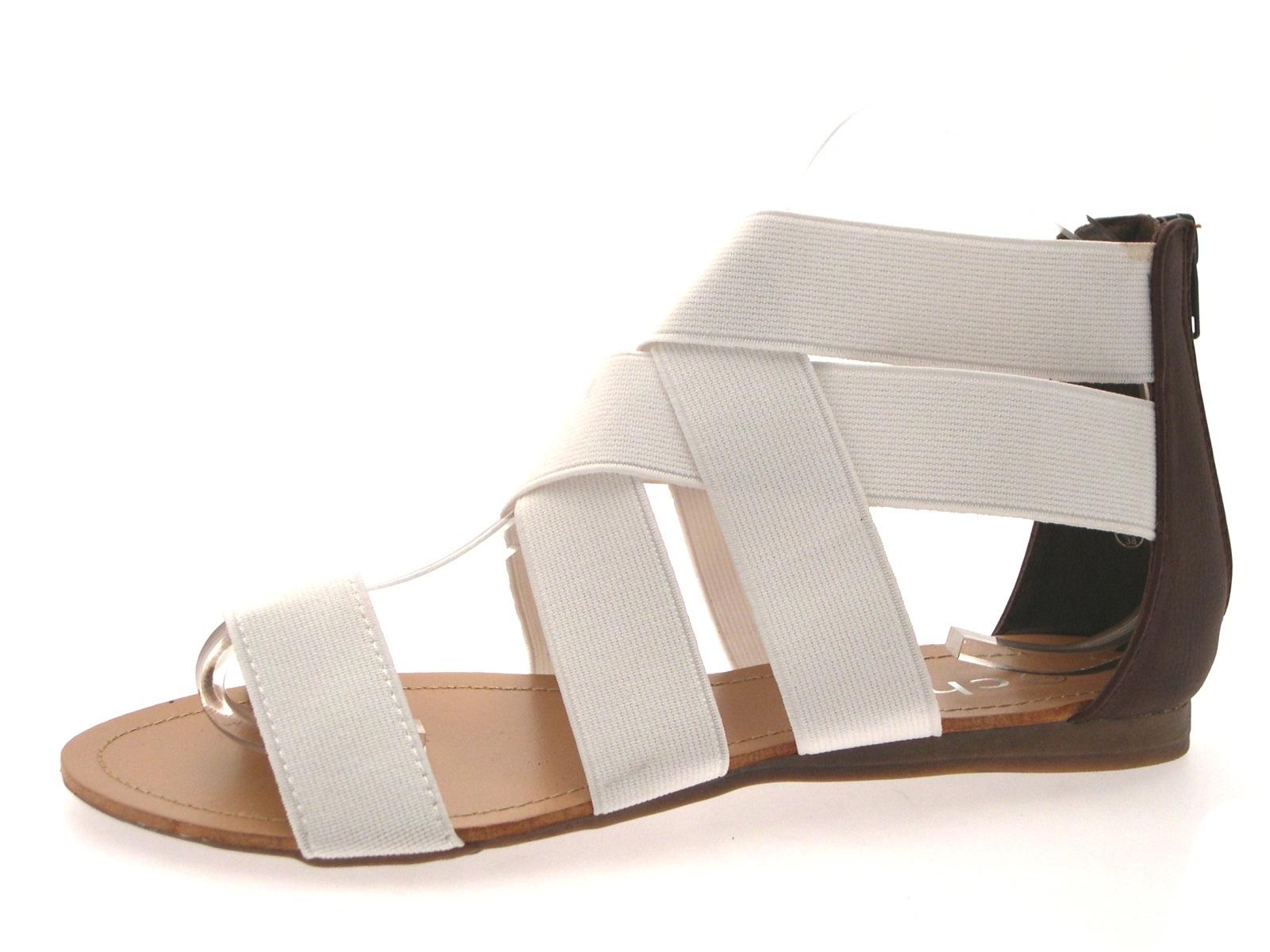 Womens flat leather sandals uk